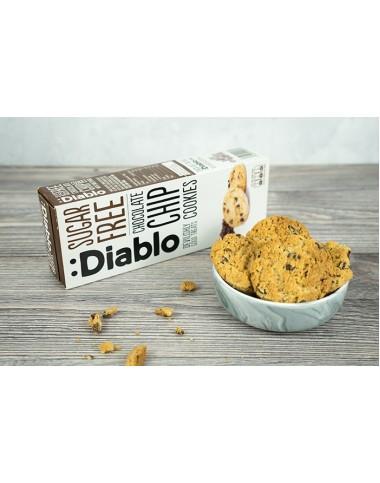Diablo Çikolata Parçacıklı Şekersiz Kurabiye 130 gr